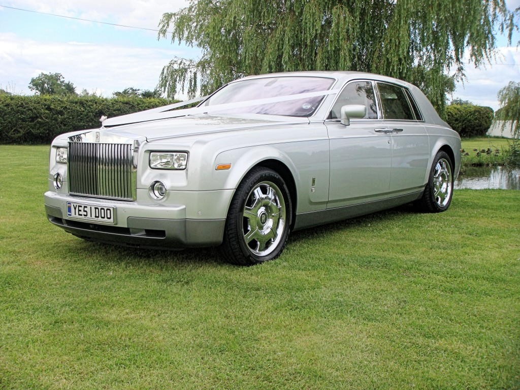 Rolls Royce Phantom with Sash for Wedding