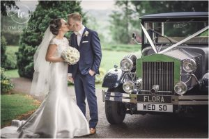 Flora Vintage Car with Happy married couple photoshoot